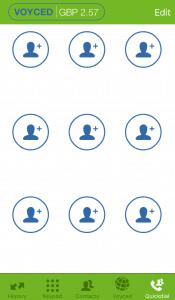 Voyced SoftPhone iOS Quickdial